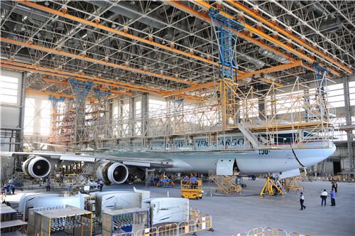 Ameco北京基地首次完成747-8飞机C检
