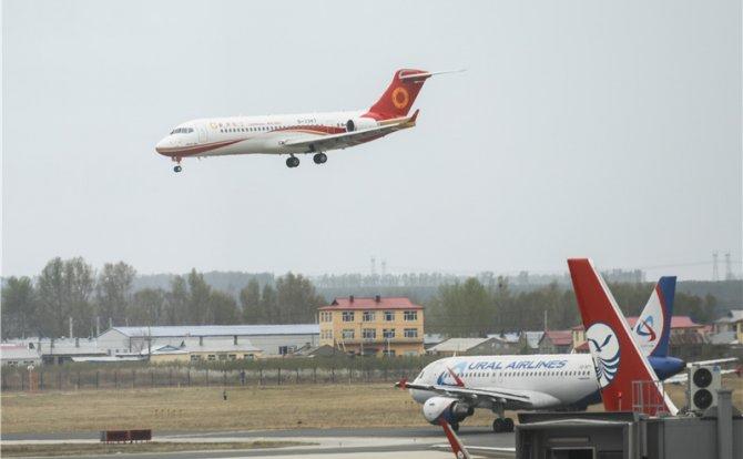 ARJ21飞机在黑龙江开启枢纽区域化运行